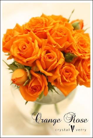 crystal-verry* クリスタルベリー *・オーナーのブログ・*-オレンジのバラ