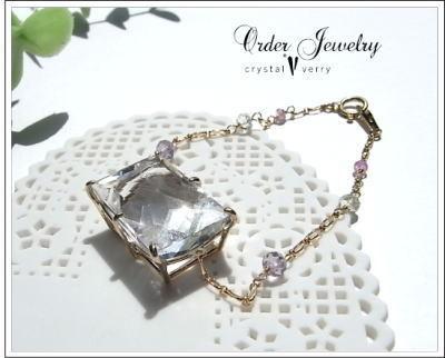 crystal-verry* クリスタルベリー *・オーナーのブログ・*-レインボー水晶 ブレスレット
