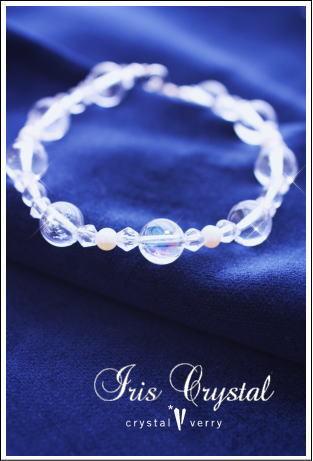 crystal-verry* クリスタルベリー *・オーナーのブログ・*-天然レインボー水晶 ブレスレット