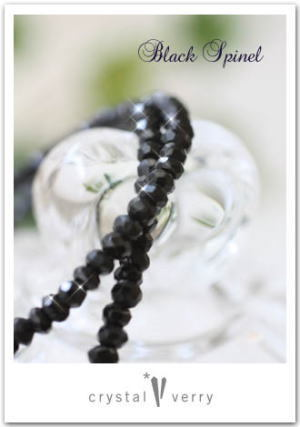 crystal-verry* クリスタルベリー *・オーナーのブログ・*-ブラックスピネル ブレスレット
