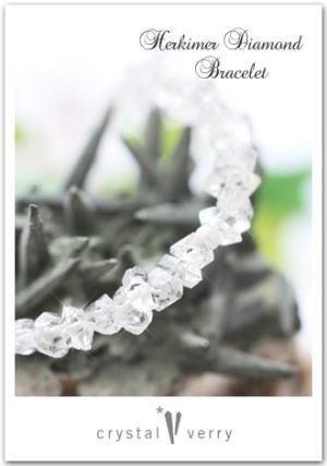 crystal-verry* クリスタルベリー *・オーナーのブログ・*-ハーキマーダイヤモンド ブレスレット