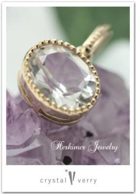 crystal-verry* クリスタルベリー *・オーナーのブログ・*-ハーキマーダイヤモンド k18 ペンダント