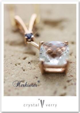 crystal-verry* クリスタルベリー *・オーナーのブログ・*-ハーキマーダイヤモンド ペンダント