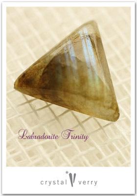 crystal-verry* クリスタルベリー *・オーナーのブログ・*-ラブラドライト 三角形 クリスタル ベリー
