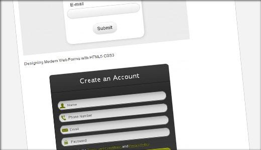 CSS3とHTML5のフォームデザインまとめ