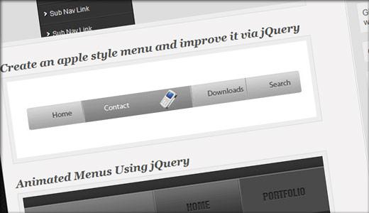jQueryとCSSで作るメニューまとめ