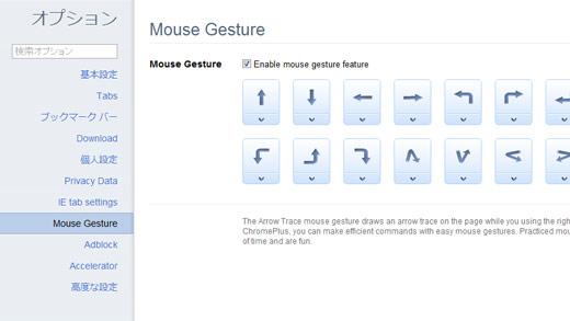 マウスジェスチャー