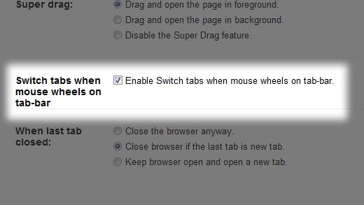マウススクロールでタブ切り替え