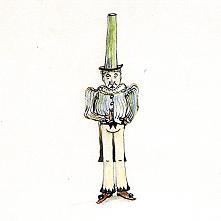 ノッポ帽子がトレードマークのブリスさん