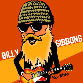 Billy Gibbons ZZ Top caricature
