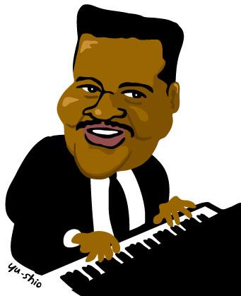 Fats Domino caricature