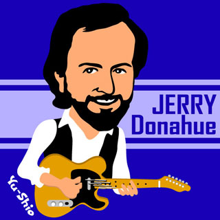 Jerry Donahue Hellecasters caricature
