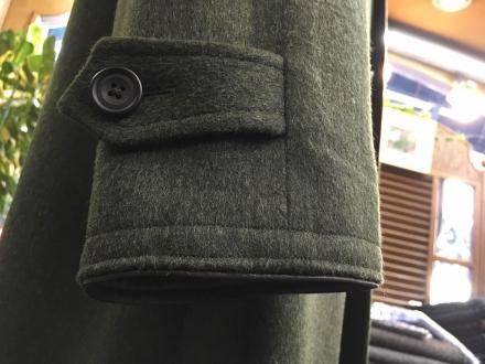 ローデンコートの袖口の革