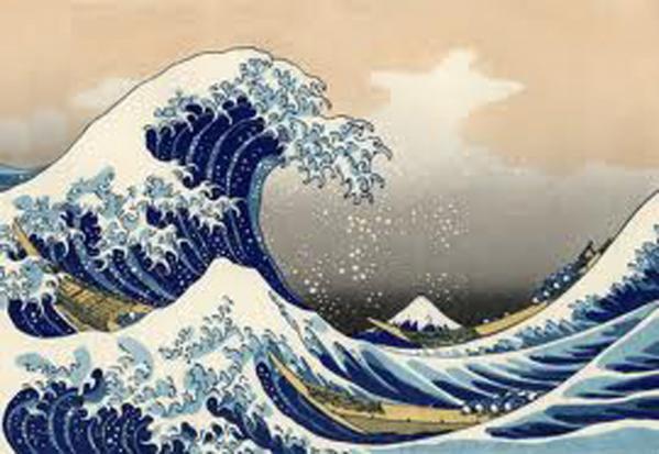 波間の富士