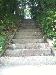 鶴岡市 大山公園 下池 階段