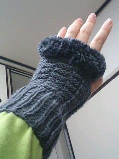 ファーの手袋_着
