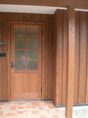 木製玄関戸