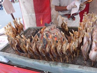 熊谷うちわ祭鮎の塩焼き