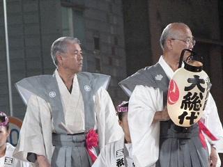 熊谷うちわ祭八坂神社大総代