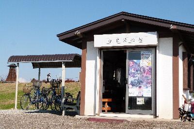 赤岩渡船⑤渡船場レンタル自転車もあります