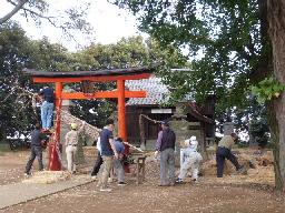 鷺栖神社前鳥居①