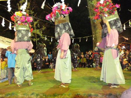 鷺栖神社花籠と獅子舞⑥