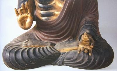 弥勒寺 弥勒坐像脚部