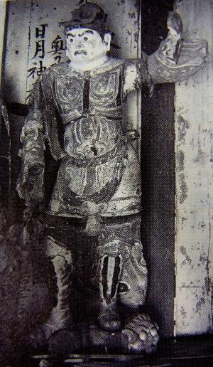 大宮神社安置当時の天王像