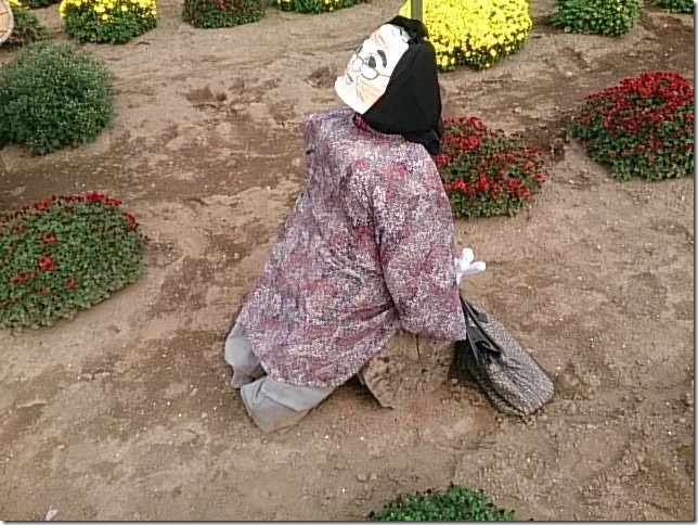 小菊の里の案山子