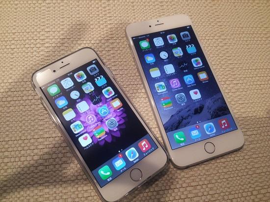 iPhone6とiPhone6 Plus