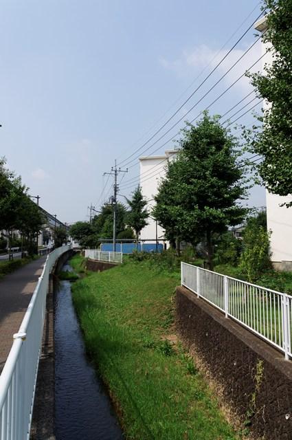 都営日野新井アパート横の用水路