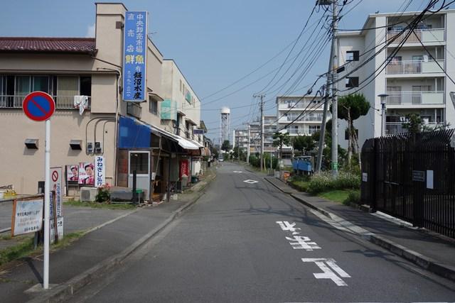 都営日野新井アパートの給水塔と住棟