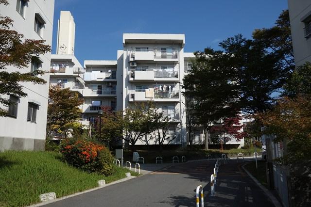 平城右京団地の住棟南側立面