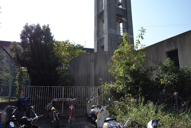 奈良県営平城団地給水塔の基部