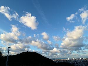 札幌市街を臨む
