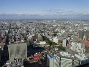 秋の札幌市街