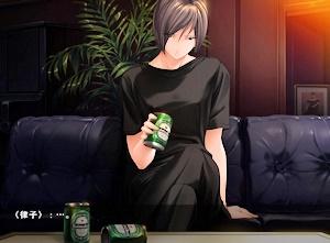 飲んだくれてる律子