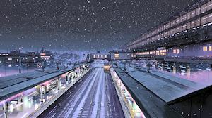 雪のプラットホーム