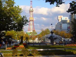 秋晴れのテレビ塔