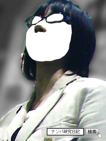 (ナンパ画像) 真面目そうな黒髪メガネ女子