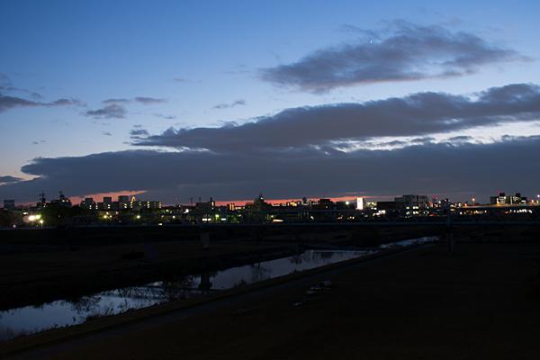 矢田川夕景-14