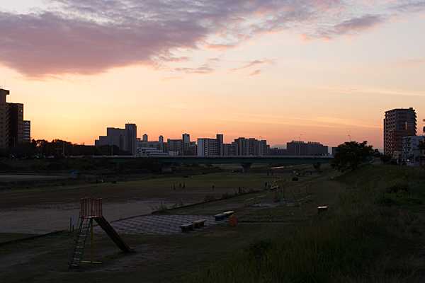 矢田川夕景-7