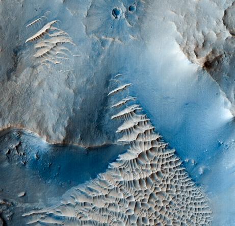 火星 レース模様の砂丘