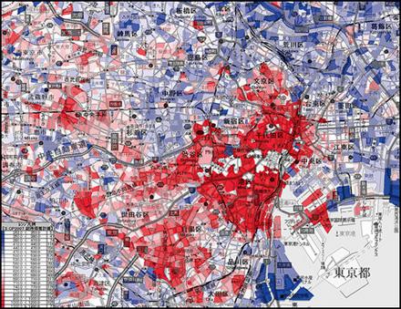 東京所得分布図