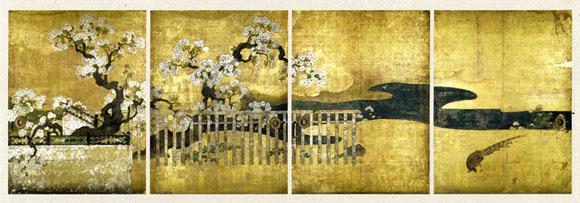 京都展二条城桜花雉子図
