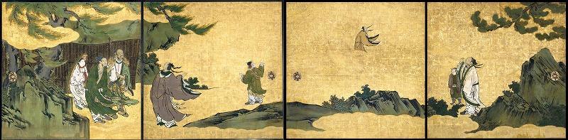 京都列子図襖