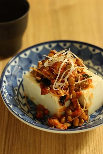 チャンジャ納豆豆腐