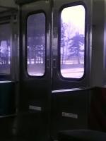 新潟の電車のドア