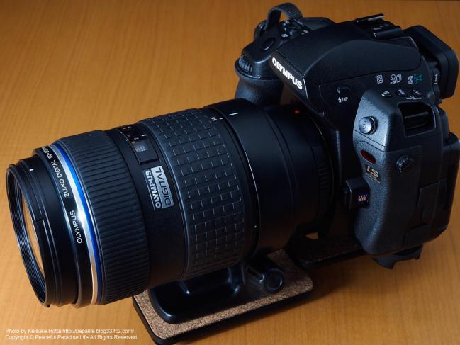 OLYMPUS E-3にZUIKO DIGITAL ED 50-200mm F2.8-3.5 SWDを装着