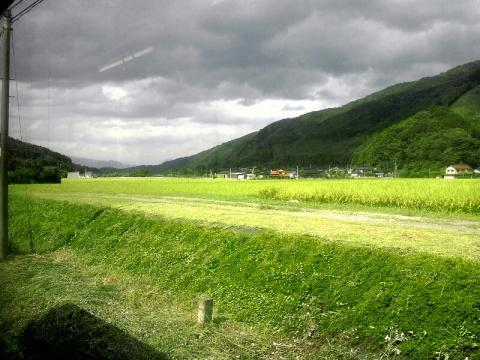 日田彦山線の車窓の景色